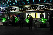 Casino entrance at night, Costa Brave, Spain