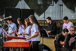 Orquestra de Percussão se apresenta na 38ª Expointer, que ocorre entre 29 de agosto e 06 de setembro de 2015 no Parque de Exposições Assis Brasil, em Esteio. FOTO: André Feltes/ Agência Preview