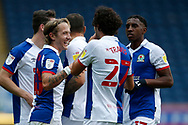 1-0, goal celebration by Lewis Holtby of Blackburn Rovers (not pictured) during the EFL Cup match between Blackburn Rovers and Doncaster Rovers at Ewood Park, Blackburn, England on 29 August 2020.