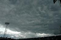 Photo: Tony Oudot.<br /> Gillingham v Charlton Athletic. Pre Season Friendly. 28/07/2007.<br /> Stormy skies over Priestfield Park