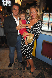 IMOGEN EDWARDS-JONES, her husband KENTON ALLEN and their daughter ALLEGRA at the launch party for her new book Beach Babylon held at Beach Blanket Babylon, Ledbury Road, London on 18th July 2007.<br /><br />NON EXCLUSIVE - WORLD RIGHTS