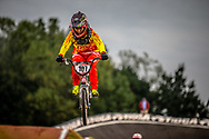 #107 (LU Yan) CHN at Round 7 of the 2019 UCI BMX Supercross World Cup in Rock Hill, USA