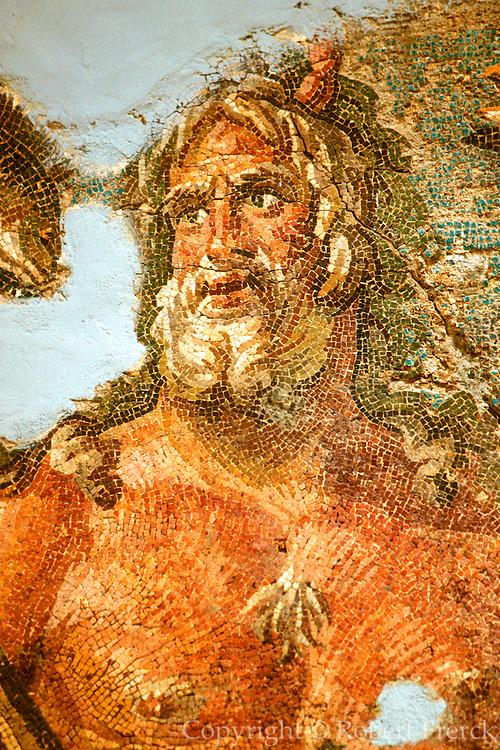 TURKEY, ROMAN CULTURE 'Calendar Mosaic' with Oceanus