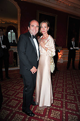 MR & MRS EMMANUEL MOATTI at a dinner hosted by HRH Prince Robert of Luxembourg in celebration of the 75th anniversary of the acquisition of Chateau Haut-Brion by his great-grandfather Clarence Dillon held at Lancaster House, London on 10th June 2010.