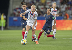 Karina SAEVIK ( NOR ) in action during the match of 2019 FIFA Women's World Cup France group A match between FRANCE and NORWAY, at Allianz Riviera, Nice Arena on June 12, 2019 in Nice, France. Photo by Loic BARATOUX/ABACAPRESS.COM