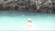 GIANT LIZARD GOES SWIMMING WITH TOURISTS ON THAI HOLIDAY ISLAND<br /> <br /> This is the incredible moment a giant monitor lizard joins tourist on the beach - to go for a SWIM.<br /> <br /> The 5ft-long reptile stunned holidaymakers when it sauntered into the sun from nearby forest on a beach in Thai holiday resort Krabi.<br /> <br /> He waddles into the clear blue water to cool off before gliding round the cove - weaving  between swimmers and snorkelers. <br /> <br /> The ice-cool lizard then walks back onto the sand and rests in the shade while amazed tourists take pictures in the Than Bok Khorani National Park, Thailand.<br /> <br /> Local wildlife officer Weerasak Sritruth said there had been reports of the lizard venturing onto the beach.<br /> <br /> But this was the first time that the creature had swum with tourists and been caught on camera.<br /> <br /> He said: ''The lizards often wait for tourists to eat food and then the leftovers, or the pick at animal remains. <br /> <br /> ''Sometimes they can hurt people but this is very rare if they are not disturbed. This is the first time that the lizard has been seen swimming with the tourists like this.<br /> <br /> ''During the New Year holiday we have to take extra care to protect the lizards because it is busy with people enjoying their holiday. Many people like to take pictures of it.''<br /> ©Exclusivepix Media