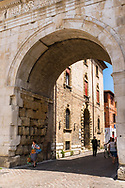 Fano, Italy is a charming beach resort town in the Marche region. Colourful cobblestone streets lead to historically notable churches and vibrant local market squares. The Arch of Augustus is a Roman gate that has come to symbolize the city.