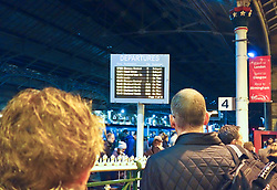 Trains cancelled due to floods in the north of England