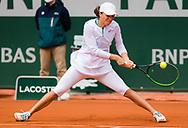 Iga Swiatek of Poland in action against Nadia Podoroska of Argentina during the semi-final of the Roland Garros 2020, Grand Slam tennis tournament, on October 8, 2020 at Roland Garros stadium in Paris, France - Photo Rob Prange / Spain ProSportsImages / DPPI / ProSportsImages / DPPI