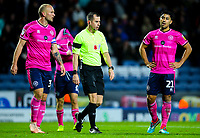 Queens Park Rangers players react after referee Peter Bankes awarded Blackburn Rovers a penalty<br /> <br /> Photographer Alex Dodd/CameraSport<br /> <br /> The EFL Sky Bet Championship - Blackburn Rovers v Queens Park Rangers - Saturday 3rd November 2018 - Ewood Park - Blackburn<br /> <br /> World Copyright © 2018 CameraSport. All rights reserved. 43 Linden Ave. Countesthorpe. Leicester. England. LE8 5PG - Tel: +44 (0) 116 277 4147 - admin@camerasport.com - www.camerasport.com
