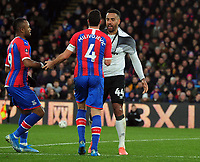 Football - 2019 / 2020 Emirates FA Cup - Third Round: Crystal Palace vs. Derby County<br /> <br /> Luka Milivojevic of Palace and Tom Huddlestone clash, which resulted in Milivojevic receiving the card card, at Selhurst Park.<br /> <br /> COLORSPORT/ANDREW COWIE