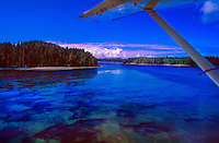 Taking off in a floatplane from Tofino, West Coast of Vancouver Island, British Columbia, Canada