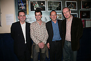 DAVID MICHAELS,  JULIAN KNOWLES , PHILIPPE SANDS AND THOMAS WHEATLEY , Opening night of 'Called To Account' The Tricycle  Theatre. London. 23 April 2007.  -DO NOT ARCHIVE-© Copyright Photograph by Dafydd Jones. 248 Clapham Rd. London SW9 0PZ. Tel 0207 820 0771. www.dafjones.com.