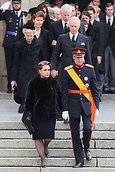 Henri, Grand Duke of Luxembourg and Maria Teresa, Grand Duchess of Luxembourg at the funeral of Grand Duke Jean of Luxembourg at Cathedral Notre-Dame of Luxembourg in Luxembourg City, Luxembourg on May 4, 2019. Photo by Papixs Press/ABACAPRESS.COM