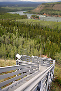 Five Finger Rapids on the Yukon River was a challenging section of river for the gold rush miners, Yukon Territory, Canada.