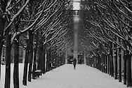 France. Pariis, 1st district ,  Royal palace Garden,  under the arches  / Jardin du palais royal