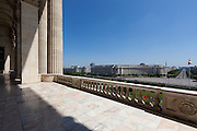 Balcony. The Palace of the Parliament (Also known as Ceausescu's Palace or House of The People) in Bucharest, Romania. Built 1983-1989. Architect: Anca Petrescu