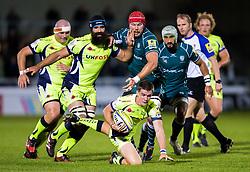 AJ MacGinty of Sale Sharks attacks - Mandatory by-line: Matt McNulty/JMP - 15/09/2017 - RUGBY - AJ Bell Stadium - Sale, England - Sale Sharks v London Irish - Aviva Premiership