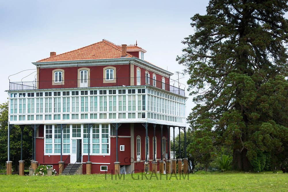 La Casona, traditional Indianos house designed by architect Garcia Nava, built 1900 in village of Samao in Asturias, Spain