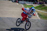 #135 (OVCHINNIKOVA Varvara) RUS  at Round 9 of the 2019 UCI BMX Supercross World Cup in Santiago del Estero, Argentina