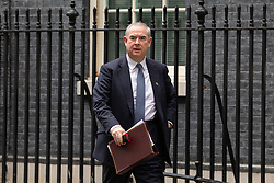 © Licensed to London News Pictures. 06/11/2018. London, UK. Attorney General Geoffrey Cox QC leaving 10 Downing Street after attending a Cabinet meeting this morning. Photo credit : Tom Nicholson/LNP