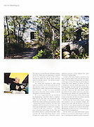 Feature on artist Syd Ball at home in his classic Murcutt house, NSW. Published in Habitus.
