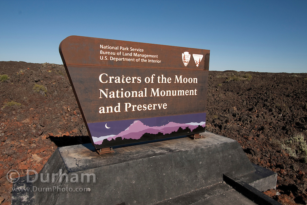 Entrance to Craters of the Moon National Monument, Idaho.