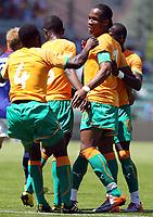 Fotball<br /> 04.06.2010<br /> Elfenbenskysten v Japan<br /> Foto: EQ Images/Digitalsport<br /> NORWAY ONLY<br /> <br /> Kolo Toure und Didier Drogba (CIV) jubeln nach dem Tor zum 0:1