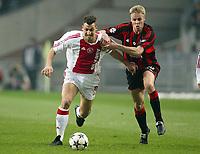 Fotball<br /> UEFA Chammpions League<br /> 26.11.2003<br /> Ajax v Milan<br /> <br /> Foto: Digitalsport<br /> Norway Only<br /> <br /> v.l Zlatan IBRAHIMOVIC Ajax - Martin LAURSEN