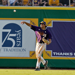 06 June 2009: Mikie Mahtook (8) in action during a 5-3 victory by the LSU Tigers over the Rice Owls in game two of the NCAA baseball College World Series, Super Regional played at Alex Box Stadium in Baton Rouge, Louisiana. The Tigers with the win advance to next week's College Baseball World Series in Omaha, Nebraska.