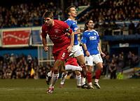 Photo: Daniel Hambury.<br />Portsmouth v Liverpool. The FA Cup. 29/01/2006.<br />Liverpool's Steven Gerrard celebrates making it 1-0.
