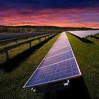 Solar Farm, Blackwater, Newport, Isle of Wight, England, UK,