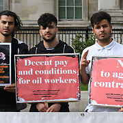 Workers-Communist Party of Iran protest for a decent pay conditions for oil workers - No to agency c