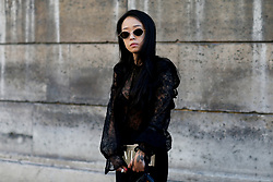 Street style, Christina Paik arriving at Valentino Spring-Summer 2019 menswear show held at Musee des Arts Decoratifs, in Paris, France, on June 20th, 2018. Photo by Marie-Paola Bertrand-Hillion/ABACAPRESS.COM