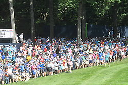 August 9, 2018 - St. Louis, Missouri, U.S. - ST. LOUIS, MO - AUGUST 09: An overflow crowd attended during the first round of the PGA Championship on August 09, 2018, at Bellerive Country Club, St. Louis, MO.  (Photo by Keith Gillett/Icon Sportswire) (Credit Image: © Keith Gillett/Icon SMI via ZUMA Press)