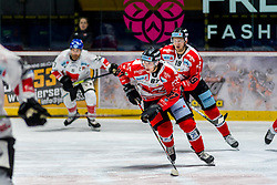 28.10.2019, Ice Rink, Znojmo, CZE, EBEL, HC Orli Znojmo vs HC TWK Innsbruck Die Haie, 17. Runde, im Bild v.l. Ondrej Miklis (HC Orli Znojmo) Ales Sova (HC Orli Znojmo) // during the Erste Bank Eishockey League 17th round match between HC Orli Znojmo and HC TWK Innsbruck Die Haie at the Ice Rink in Znojmo, Czechia on 2019/10/28. EXPA Pictures © 2019, PhotoCredit: EXPA/ Rostislav Pfeffer