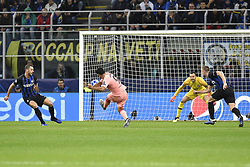 November 6, 2018 - Milan, Milan, Italy - Luis Suárez of Barcelona attempts to score first goal during the UEFA Champions League Group Stage match between Inter Milan and Barcelona at Stadio San Siro, Milan, Italy on 6 November 2018. Photo by Giuseppe Maffia. (Credit Image: © AFP7 via ZUMA Wire)