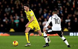 Tom Flanagan of Burton Albion takes on Thomas Ince of Derby County - Mandatory by-line: Robbie Stephenson/JMP - 21/02/2017 - FOOTBALL - iPro Stadium - Derby, England - Derby County v Burton Albion - Sky Bet Championship