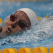 Alicia Coutts, Australia, in action during the women's 4 x 100m freestyle relay final during the swimming finals at the Aquatic Centre at Olympic Park, Stratford during the London 2012 Olympic games. London, UK. 28th July 2012. Photo Tim Clayton