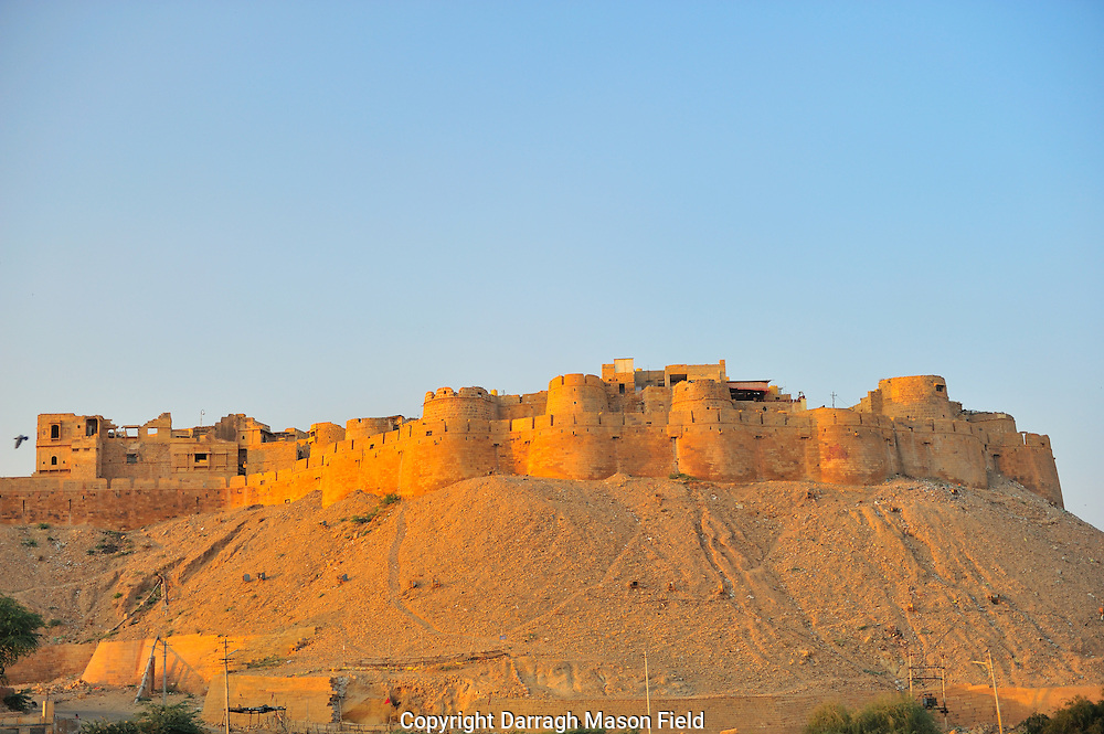 Jaisalmer fort in the golden evening sun