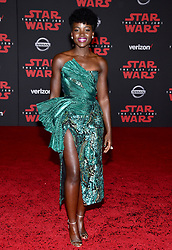 Lupita Nyong'o attends the world premiere of Disney Pictures and Lucasfilm's 'Star Wars: The Last Jedi' at The Shrine Auditorium on December 9, 2017 in Los Angeles, California. Photo by Lionel Hahn/ABACAPRESS.COM