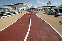 Royal Caribbean International's  Independence of the Seas, the world's largest cruise ship...Running track