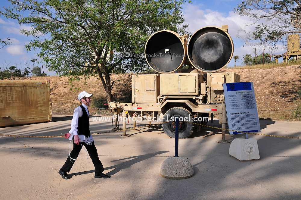 Israel, Hazirim, near Beer Sheva, Israeli Air Force museum. The national centre for Israel's aviation heritage. Hawk Anti-aircraft Surface to Air missiles