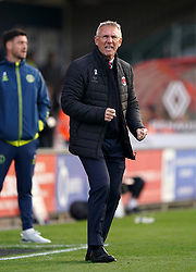 Charlton Athletic manager Nigel Adkins reacts on the touchline during the Sky Bet League One match at the LNER Stadium, Lincoln. Picture date: Saturday October 16, 2021.