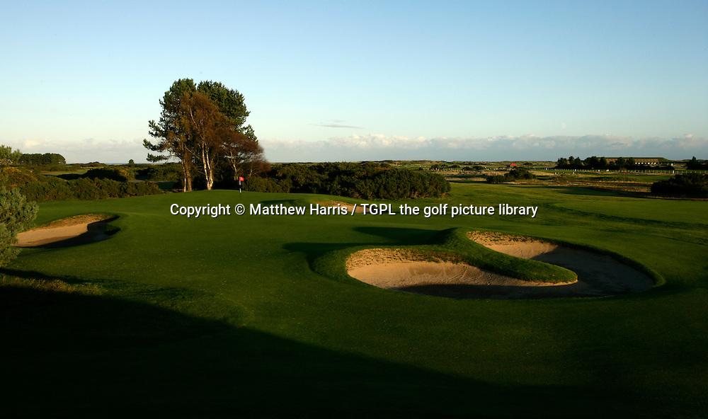 Carnoustie Golf Links 13th par 3 ' Whins '  during autumn,Carnoustie,Angus,Scotland.