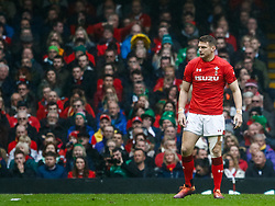 Dan Biggar of Wales<br /> <br /> Photographer Simon King/Replay Images<br /> <br /> Six Nations Round 5 - Wales v Ireland - Saturday 16th March 2019 - Principality Stadium - Cardiff<br /> <br /> World Copyright © Replay Images . All rights reserved. info@replayimages.co.uk - http://replayimages.co.uk