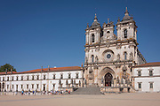 The exterior of Alcobaca Monastery, Portugal.