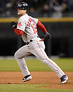 CHICAGO - MAY 03:  Andrew Benintendi #16 of the Boston Red Sox runs the bases against the Chicago White Sox on May 3, 2019 at Guaranteed Rate Field in Chicago, Illinois.  (Photo by Ron Vesely)  Subject:  Andrew Benintendi