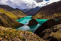 Manla Reservoir, near Gyangze, Tibet (Xizang), China.