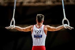 November 2, 2018 - Doha, Qatar - Nikita Simonov of Azerbaijan   during  Rings for Men at the Aspire Dome in Doha, Qatar, Artistic FIG Gymnastics World Championships on 2 of November 2018. (Credit Image: © Ulrik Pedersen/NurPhoto via ZUMA Press)